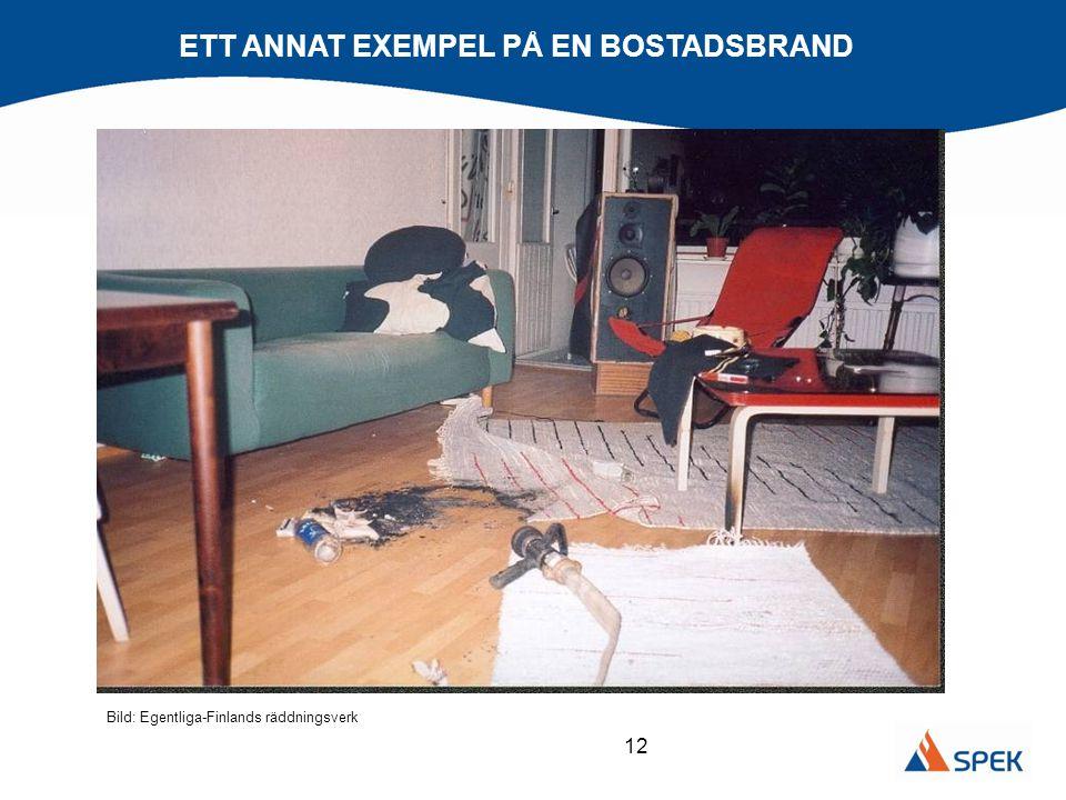 ETT ANNAT EXEMPEL PÅ EN BOSTADSBRAND
