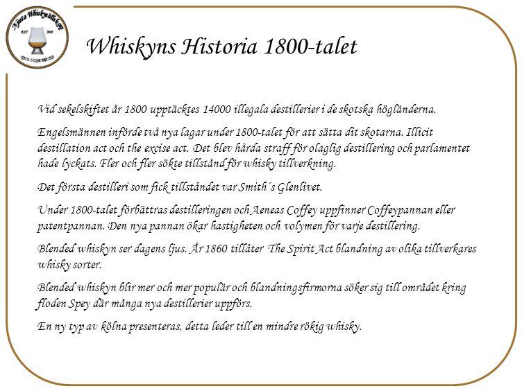 Whiskyns Historia 1800-talet