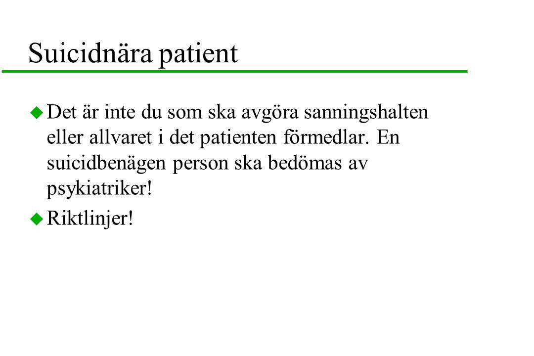 Suicidnära patient