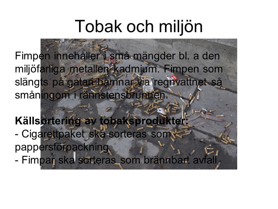 Tobak och miljön