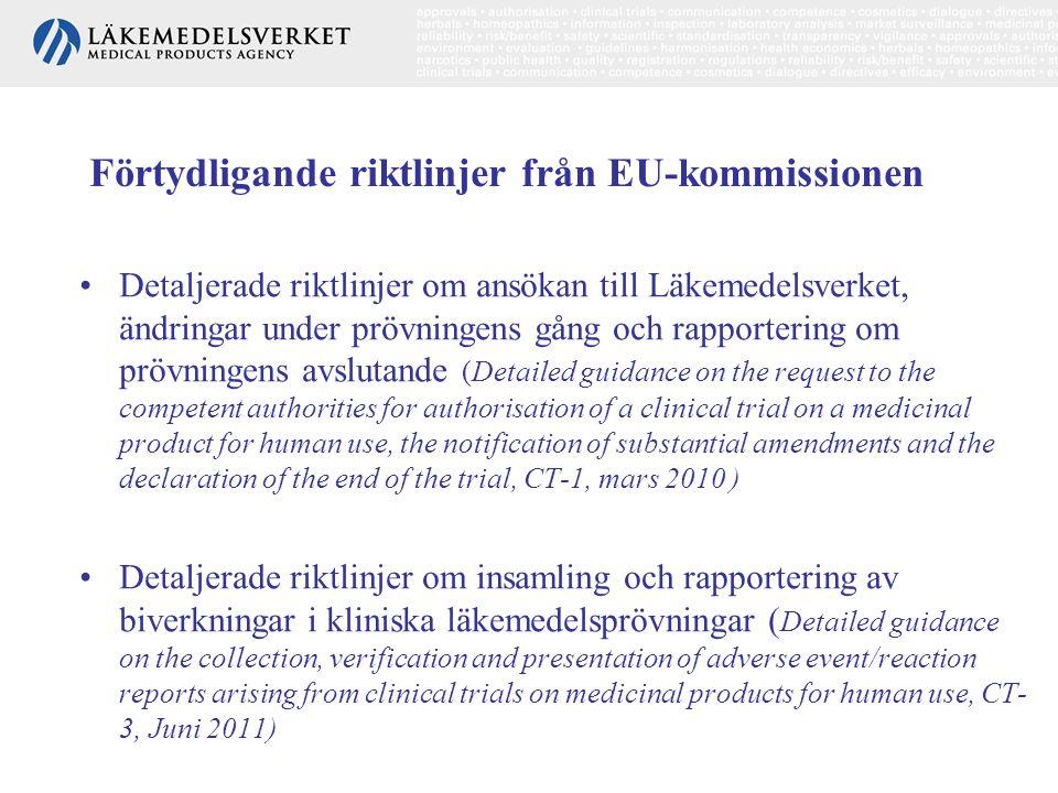 Förtydligande riktlinjer från EU-kommissionen