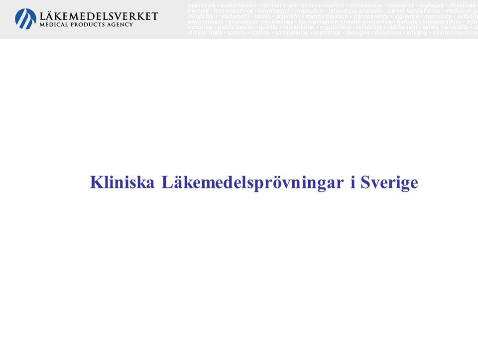 Kliniska Läkemedelsprövningar i Sverige