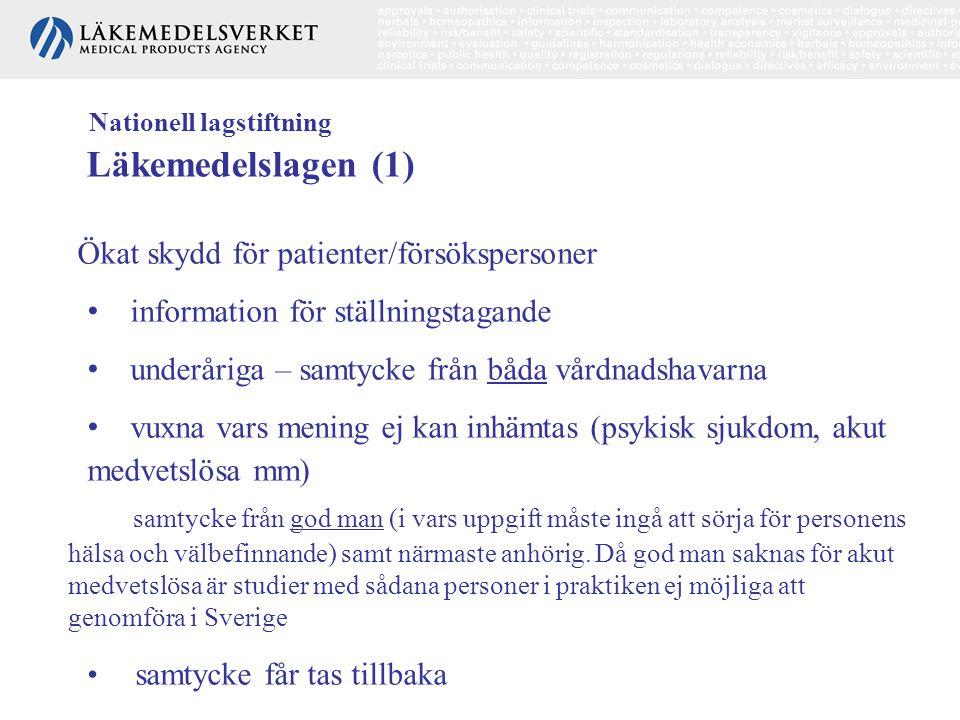 Nationell lagstiftning Läkemedelslagen (1)