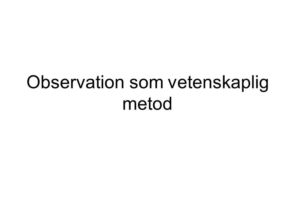 Observation som vetenskaplig metod
