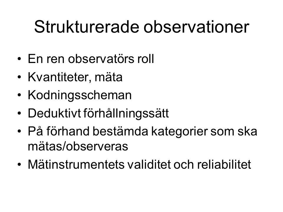 Strukturerade observationer