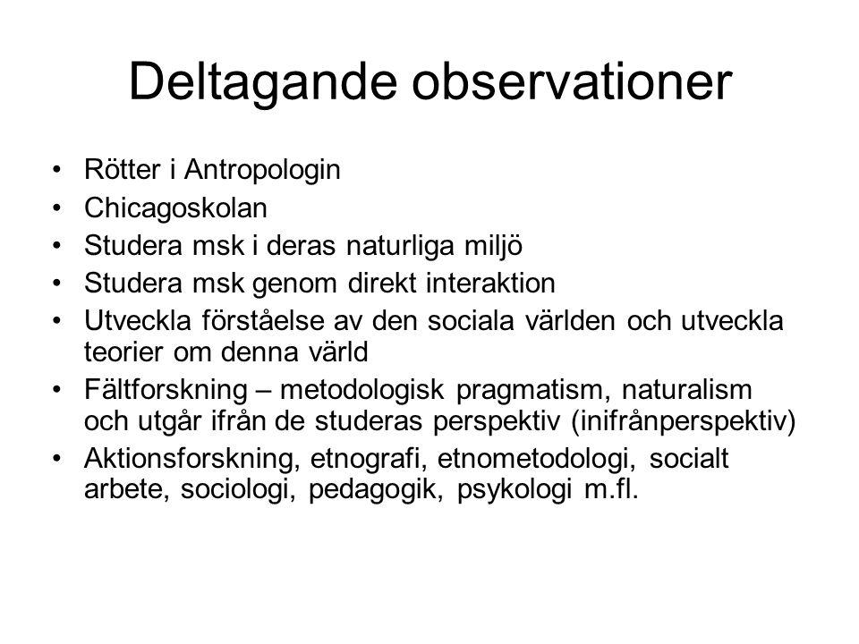 Deltagande observationer