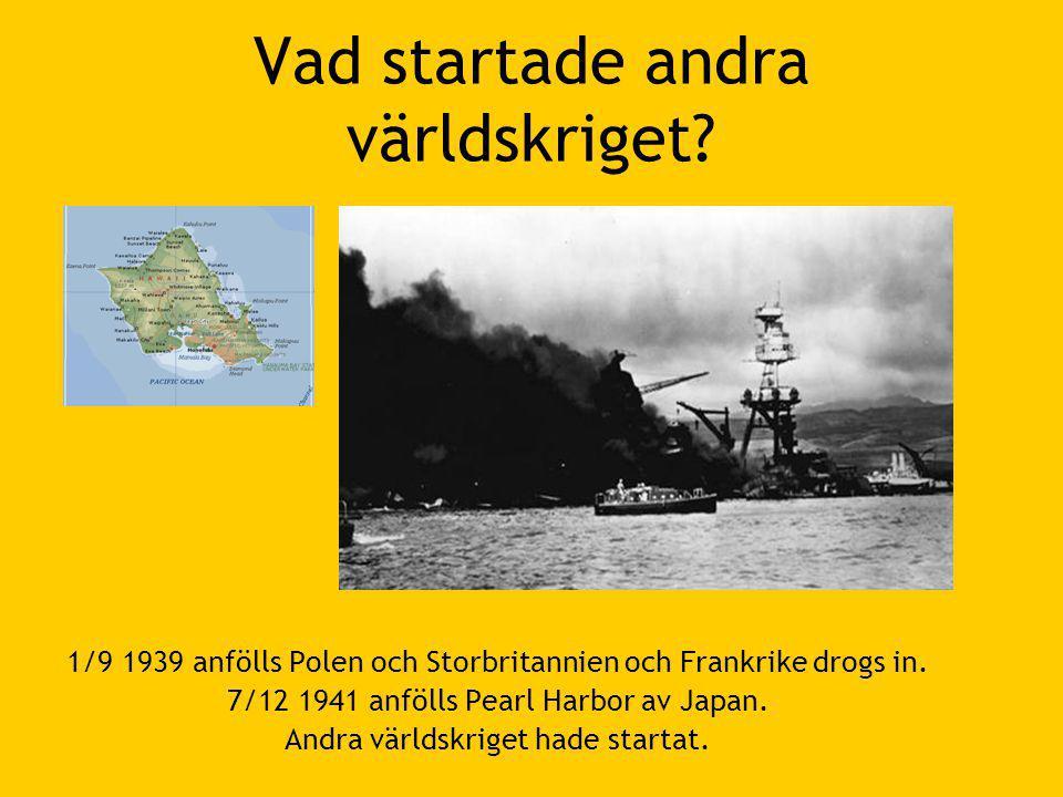 Vad startade andra världskriget