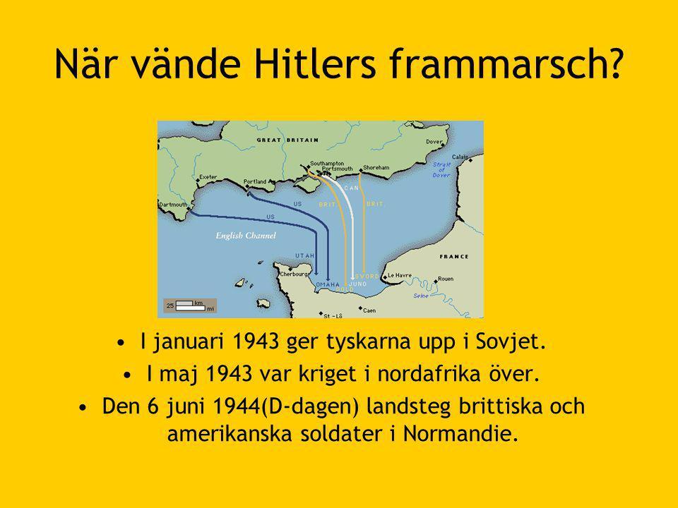 När vände Hitlers frammarsch