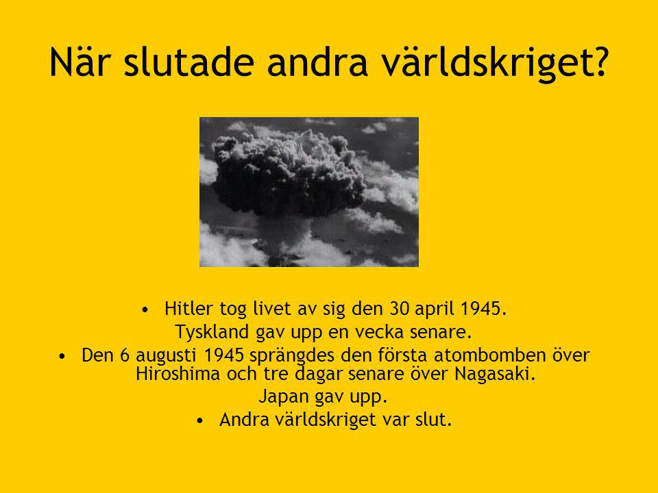 När slutade andra världskriget