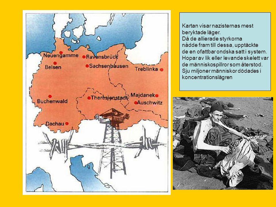 Kartan visar nazisternas mest