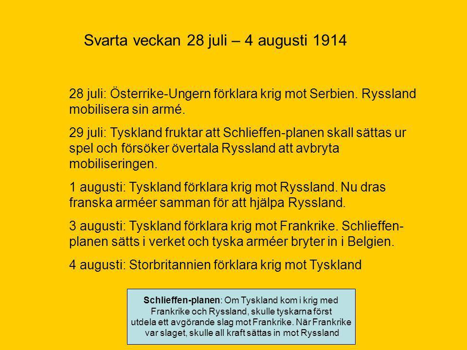 Svarta veckan 28 juli – 4 augusti 1914