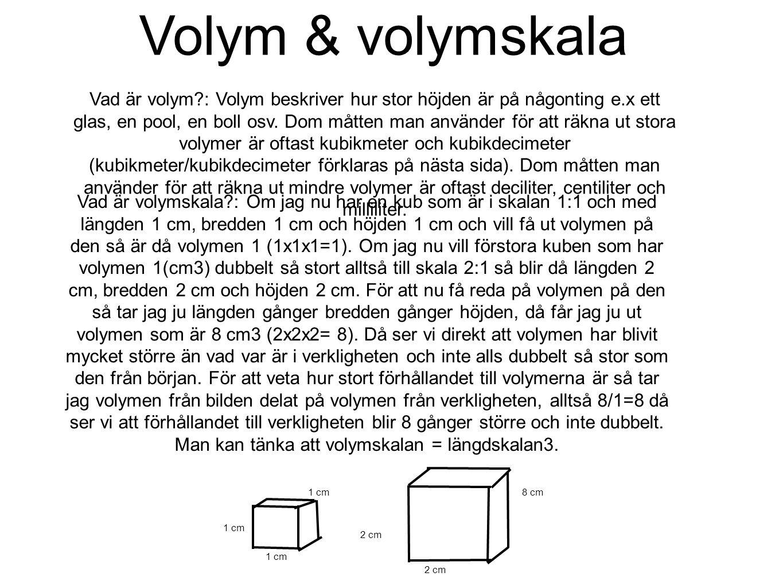 Volym & volymskala