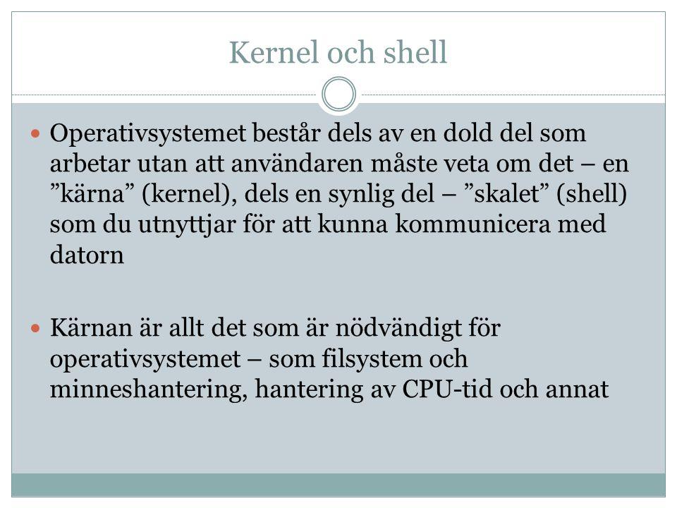 Kernel och shell