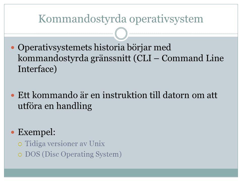 Kommandostyrda operativsystem
