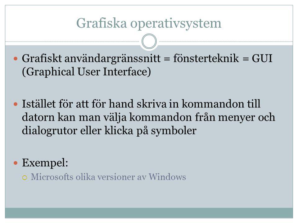 Grafiska operativsystem