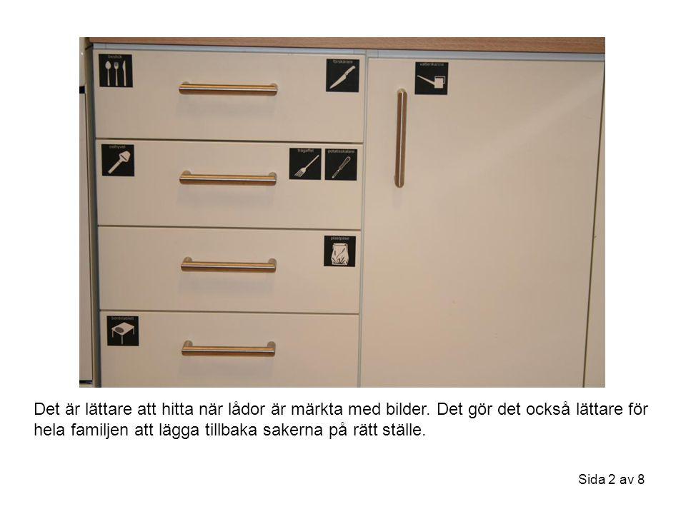 Det är lättare att hitta när lådor är märkta med bilder