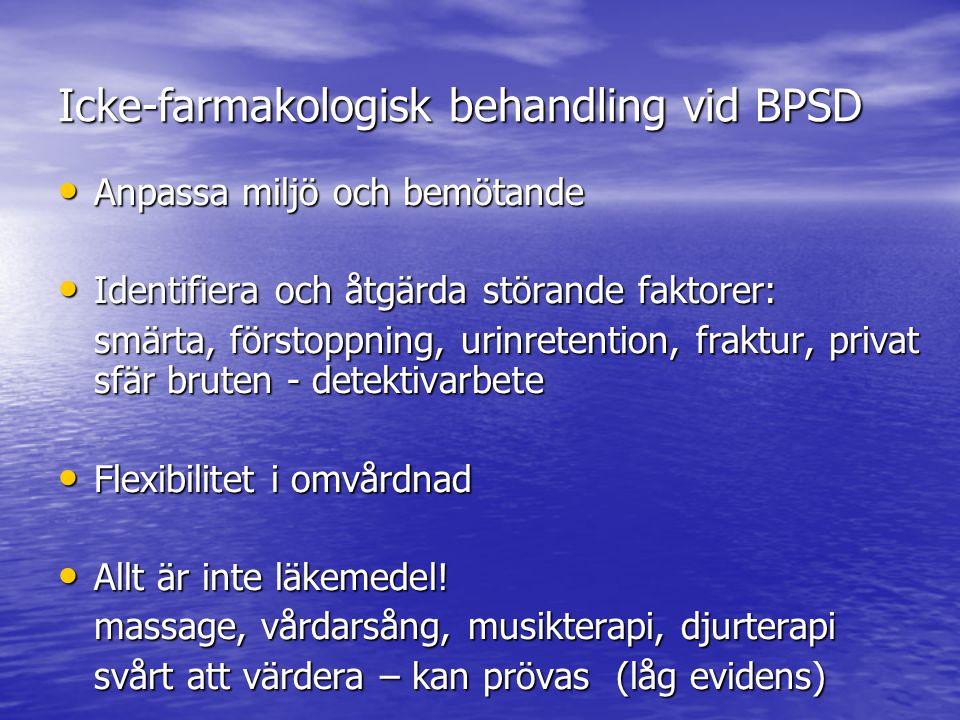 Icke-farmakologisk behandling vid BPSD