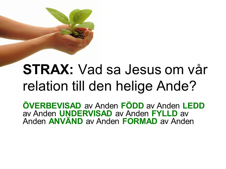 STRAX: Vad sa Jesus om vår relation till den helige Ande