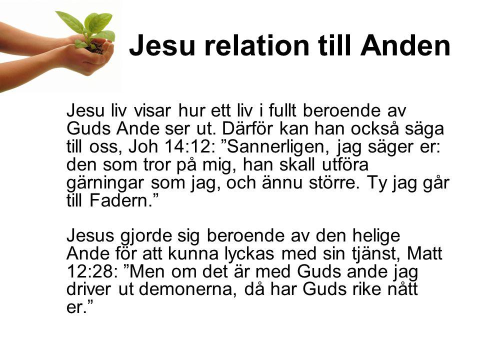 Jesu relation till Anden