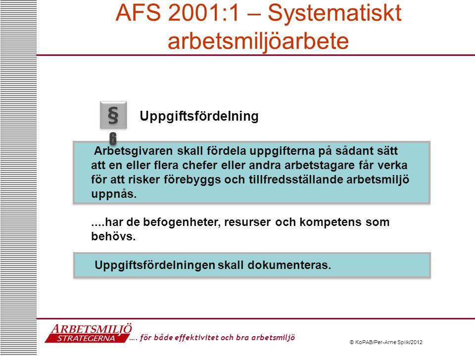 AFS 2001:1 – Systematiskt arbetsmiljöarbete