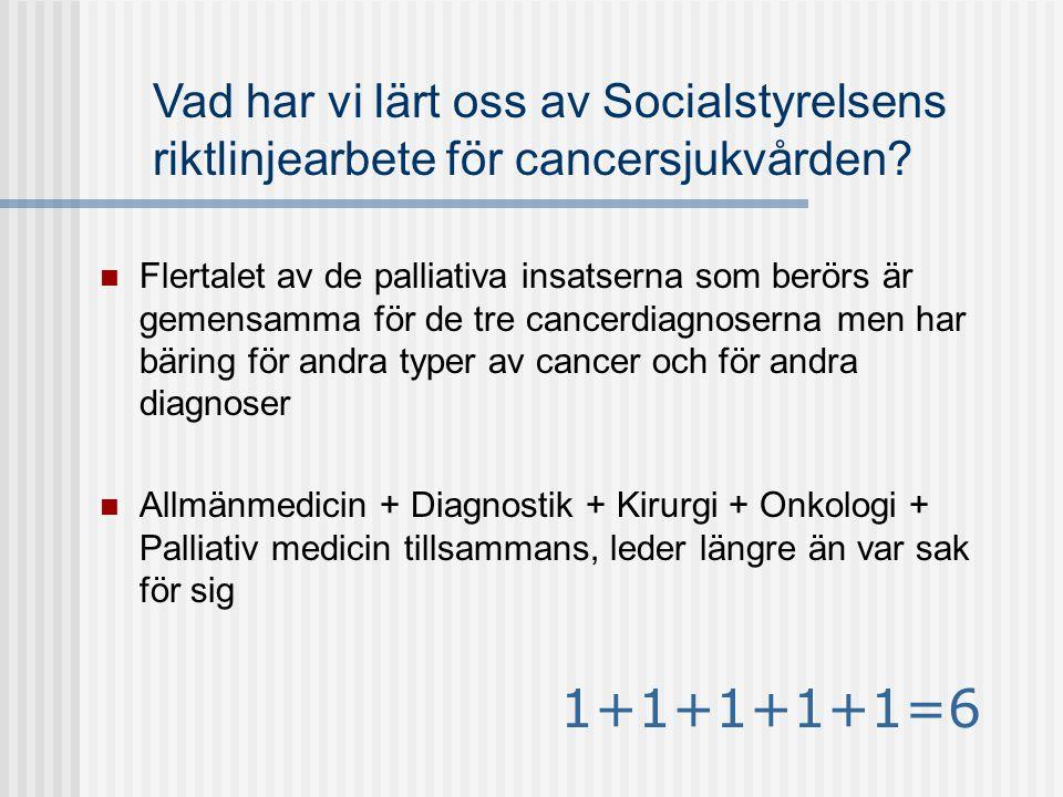 Vad har vi lärt oss av Socialstyrelsens riktlinjearbete för cancersjukvården