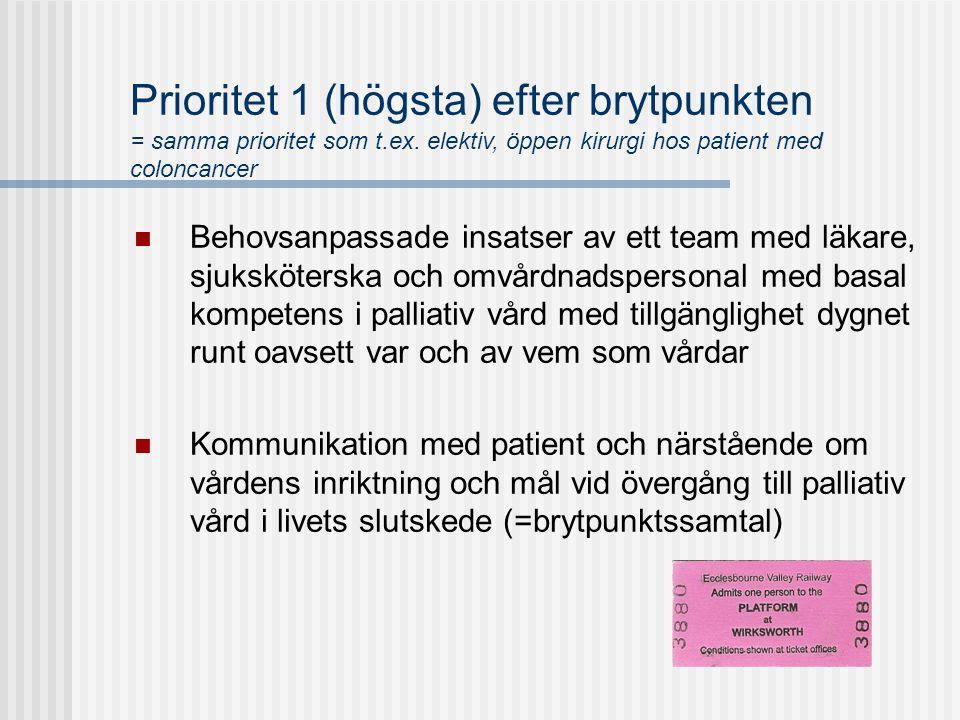 Prioritet 1 (högsta) efter brytpunkten = samma prioritet som t. ex