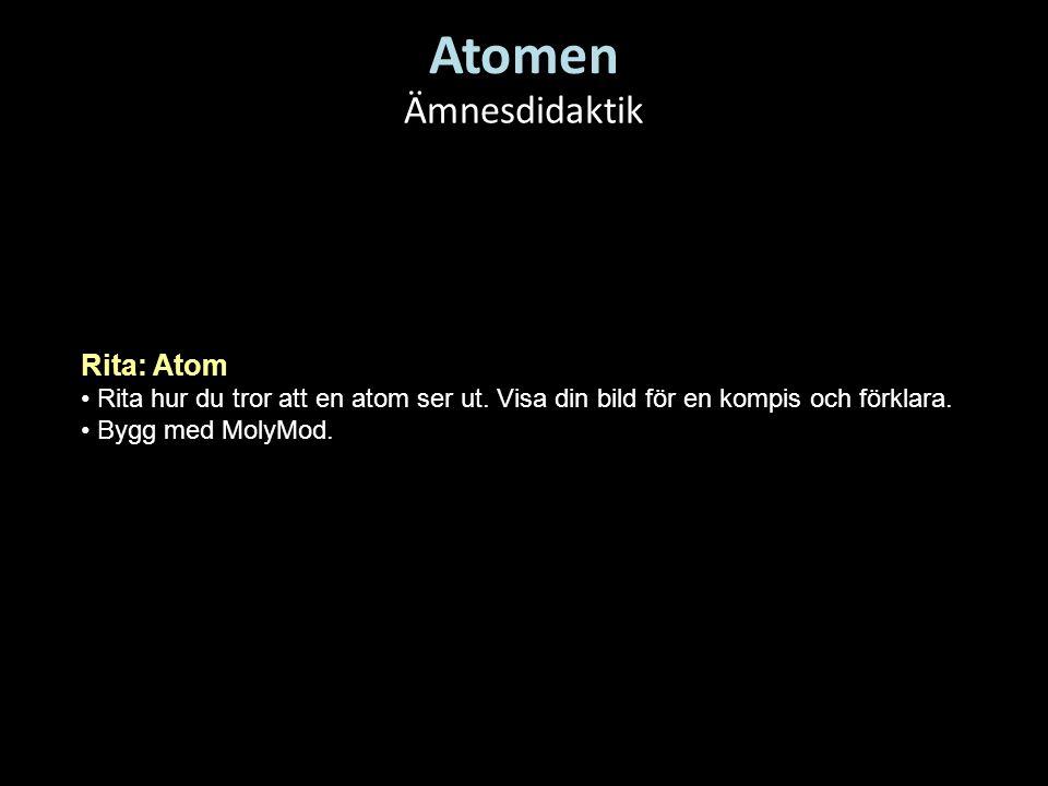 Atomen Ämnesdidaktik Rita: Atom