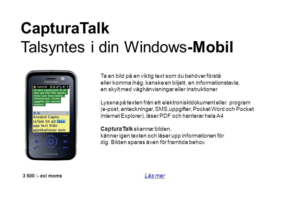 Talsyntes i din Windows-Mobil