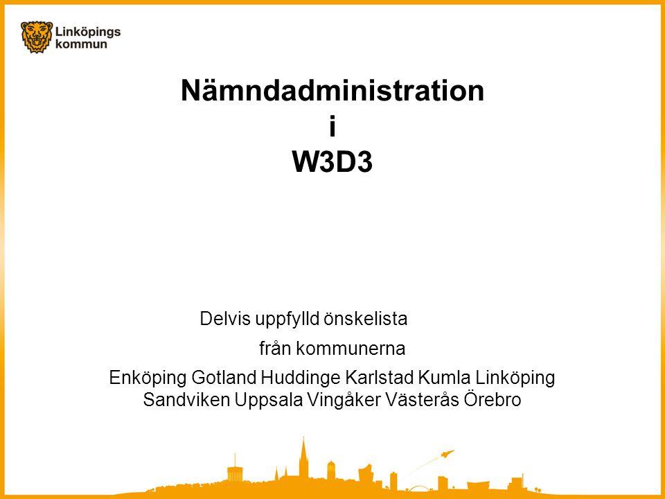 Nämndadministration i W3D3