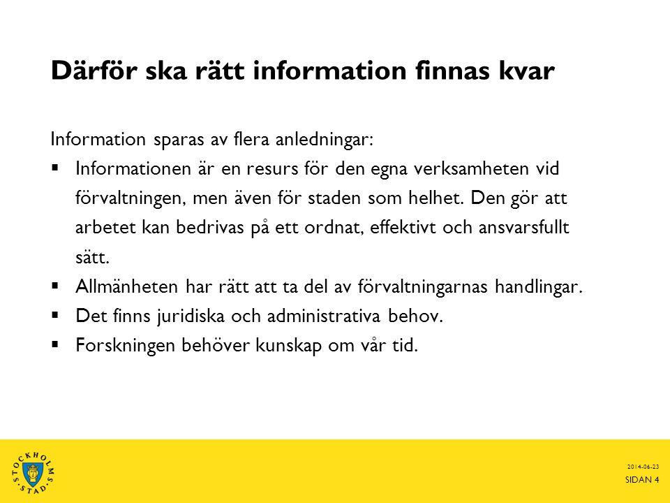 Därför ska rätt information finnas kvar