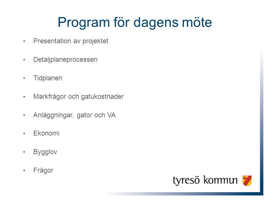 Program för dagens möte