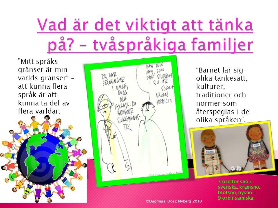 Vad är det viktigt att tänka på – tvåspråkiga familjer