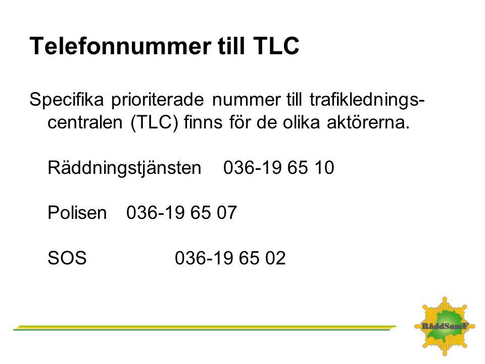 Telefonnummer till TLC