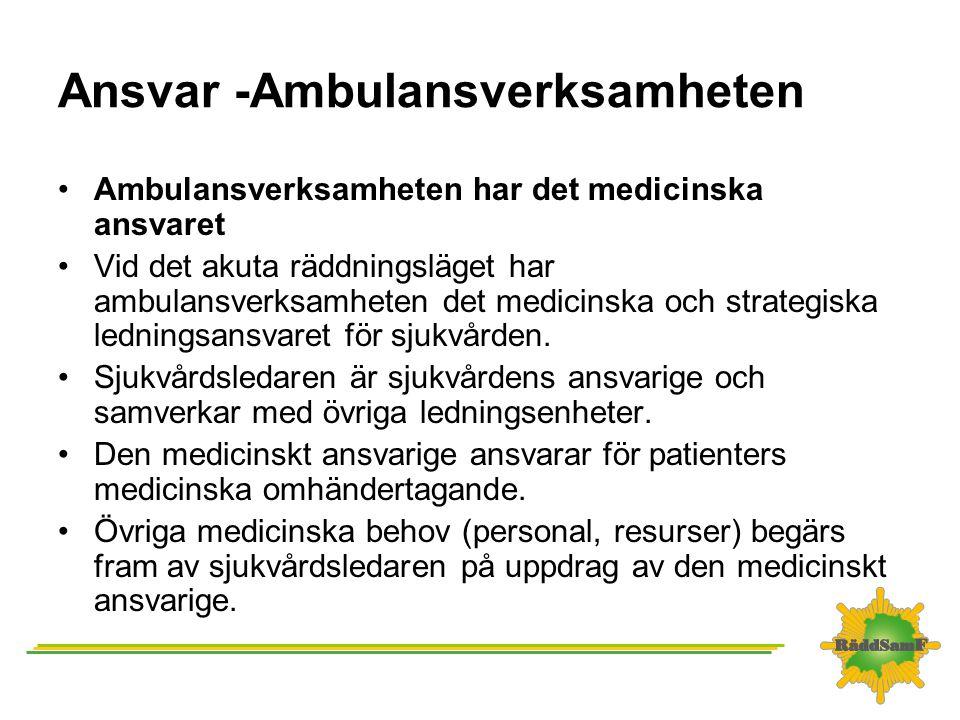 Ansvar -Ambulansverksamheten