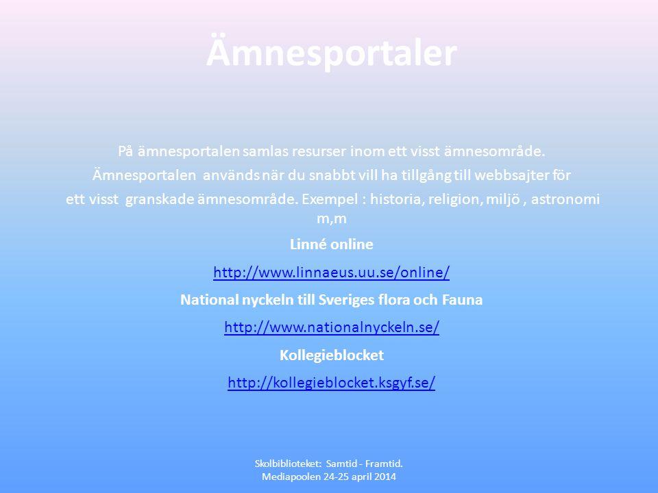 National nyckeln till Sveriges flora och Fauna