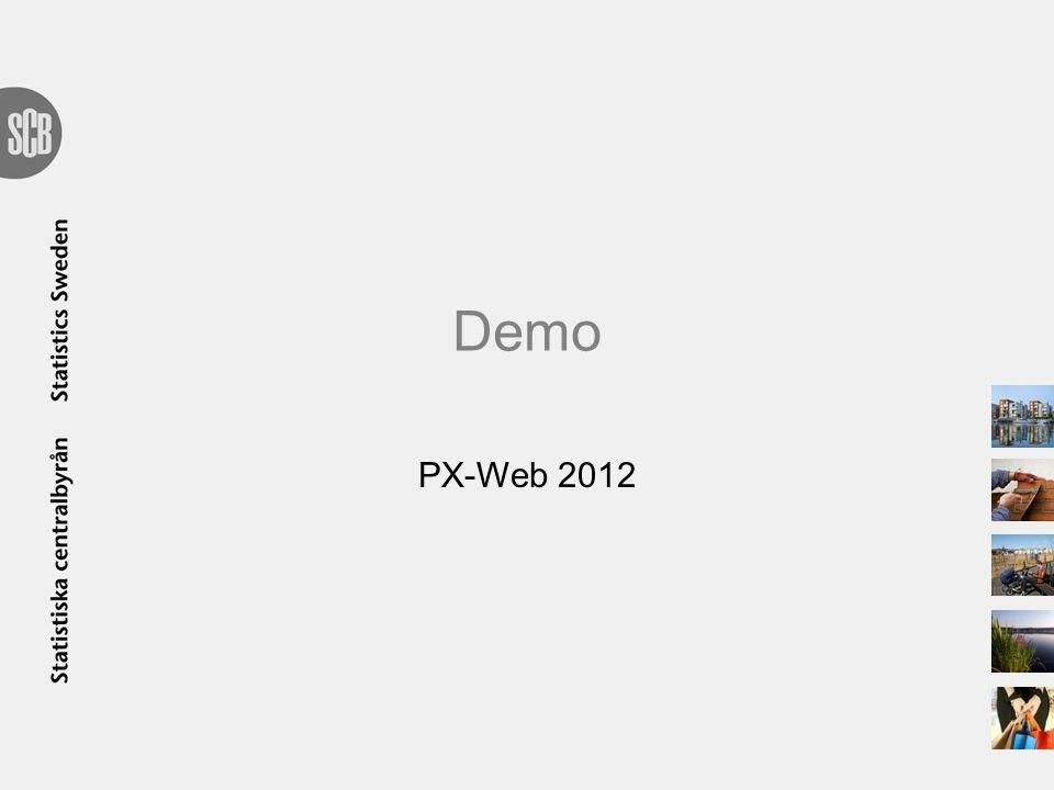 Demo PX-Web 2012