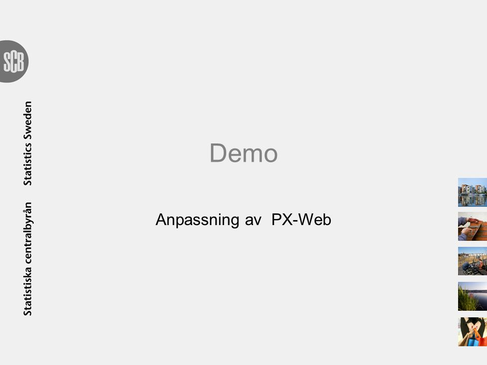 Demo Anpassning av PX-Web