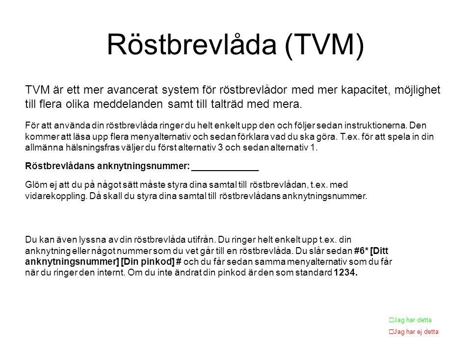 Röstbrevlåda (TVM)