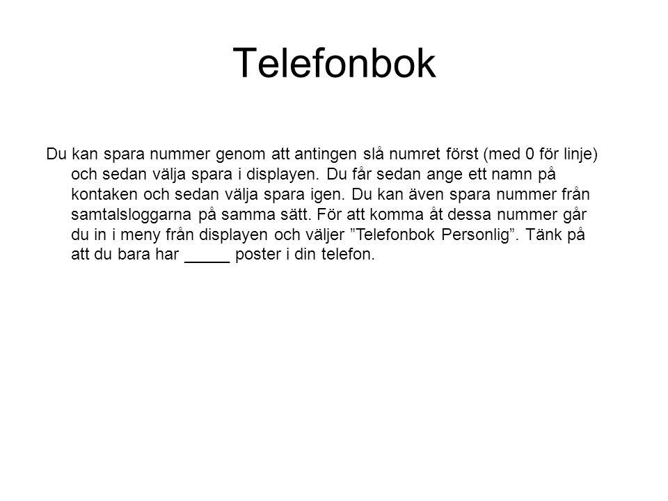 Telefonbok