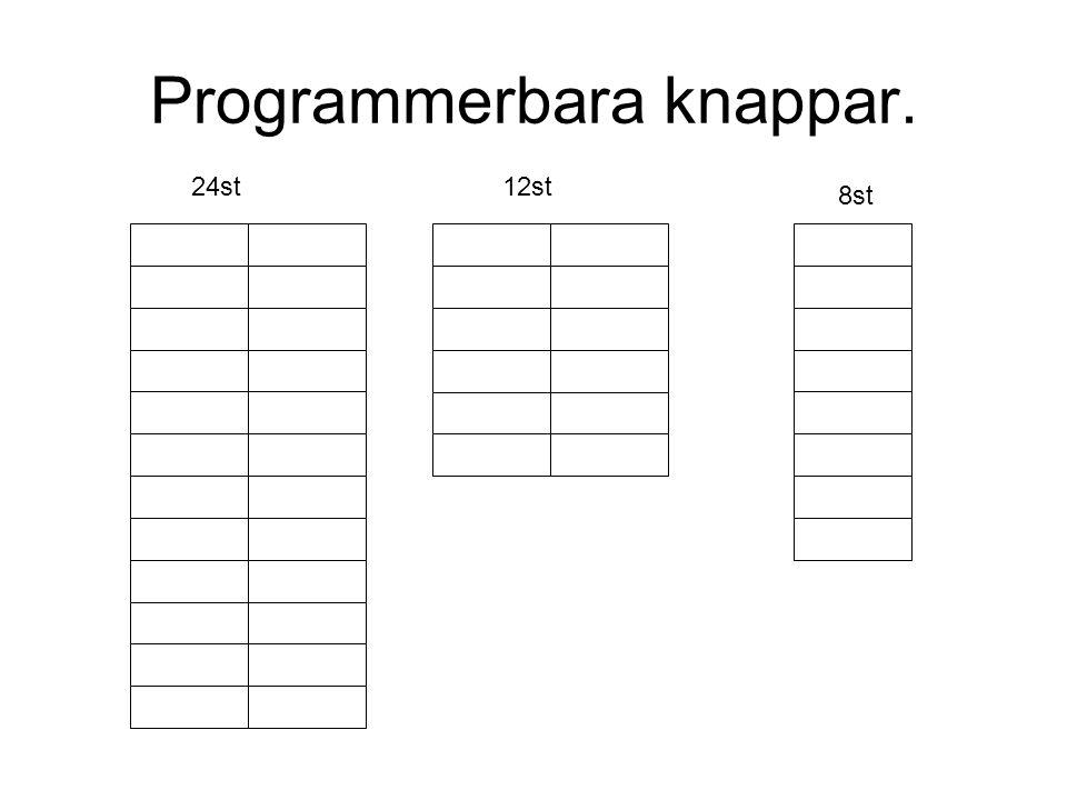 Programmerbara knappar.