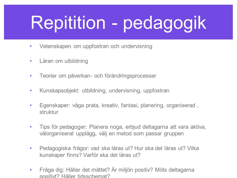 Repitition - pedagogik