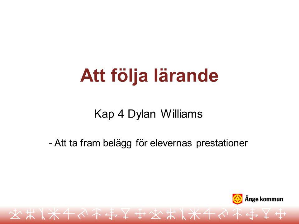 Kap 4 Dylan Williams - Att ta fram belägg för elevernas prestationer