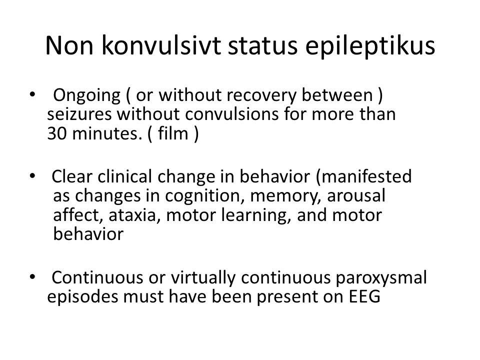 Non konvulsivt status epileptikus