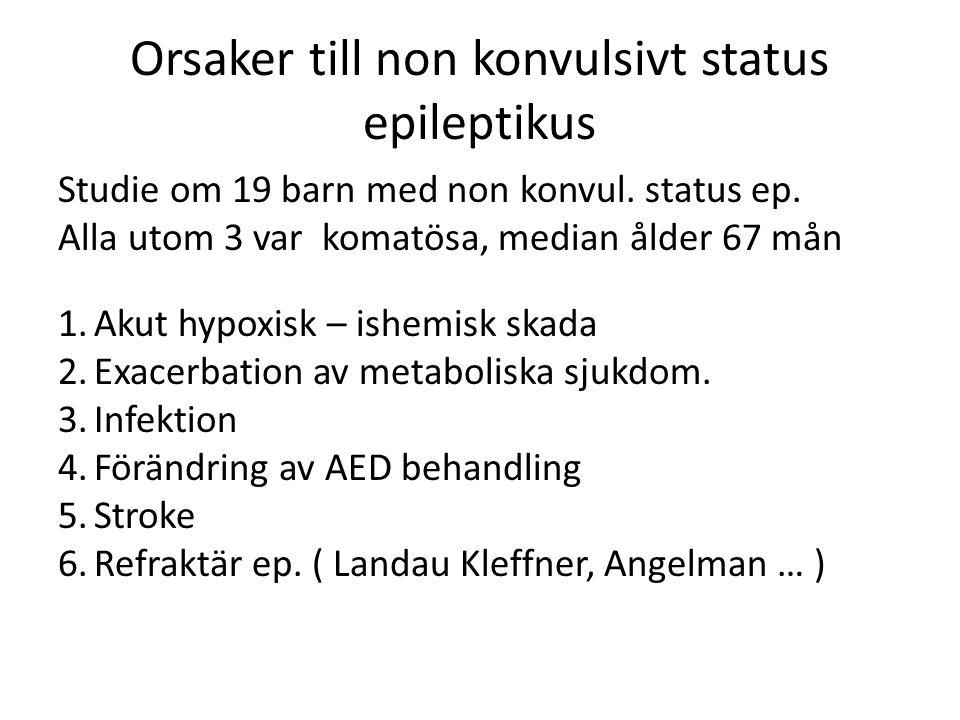 Orsaker till non konvulsivt status epileptikus