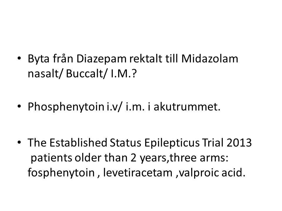 Byta från Diazepam rektalt till Midazolam nasalt/ Buccalt/ I.M.