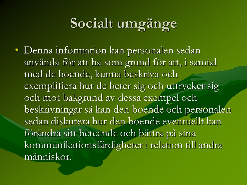 Socialt umgänge