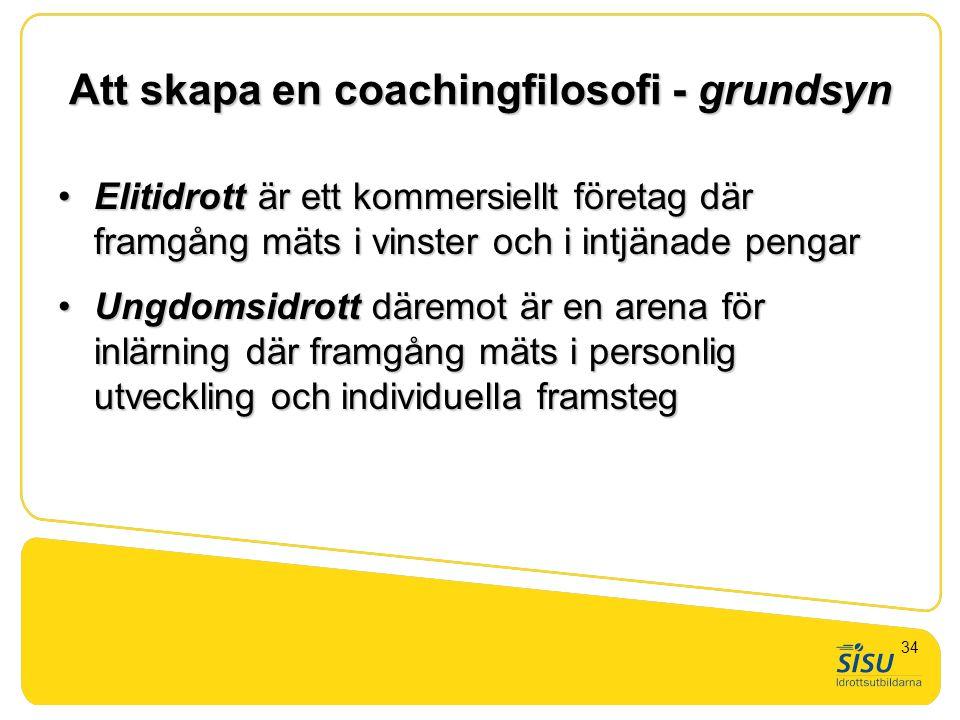 Att skapa en coachingfilosofi - grundsyn