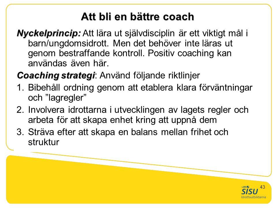 GTU nivå 1. Generell tränarskap, teori