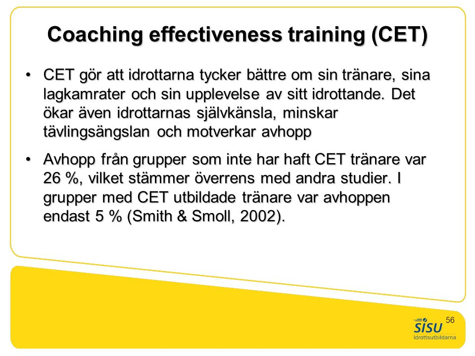 Coaching effectiveness training (CET)