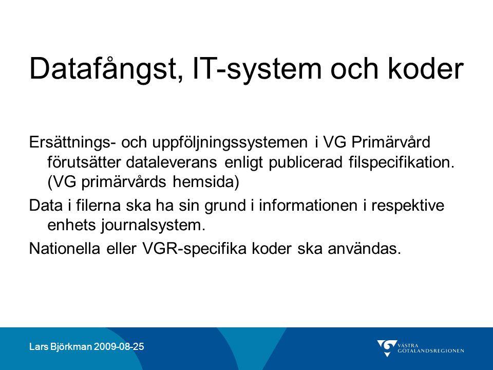 Datafångst, IT-system och koder